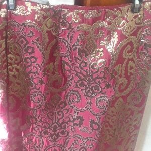Red and Gold skirt, size 8